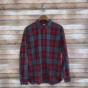 J. Crew Men's Plaid Shirt | Size Large